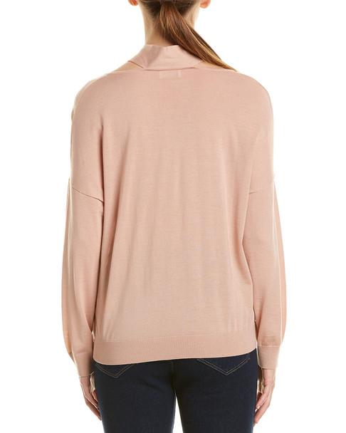 RED Valentino Scarf Neck Wool, Silk, & Cashmere-Blend Sweater~1411162958