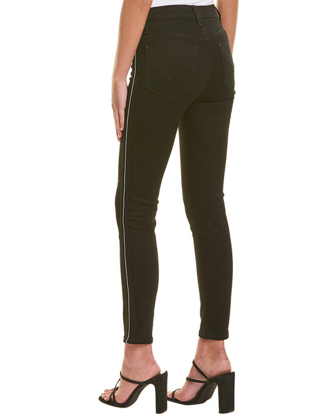 HUDSON Jeans Holly Black Luxe High-Rise Crop Skinny~1411227189