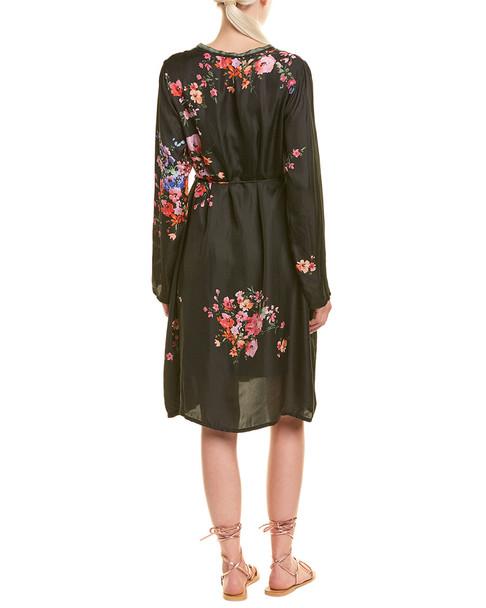 Johnny Was Silk Midi Dress~1411737975