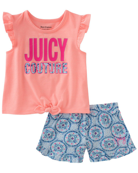 Juicy Couture Flutter Tank Top & Printed Short~1511900866