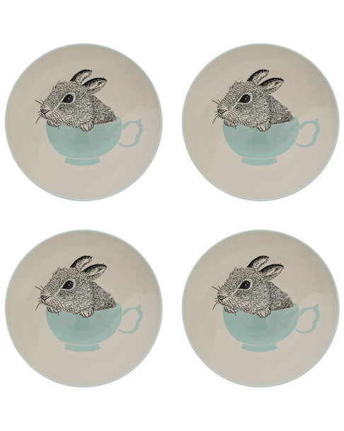 Bloomingville Set of 4 Bunny Cup Albert Plates~30107683930000