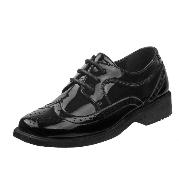 13-6 Boys' Lace-Up Dress Shoes~Black Patent*O-31801C