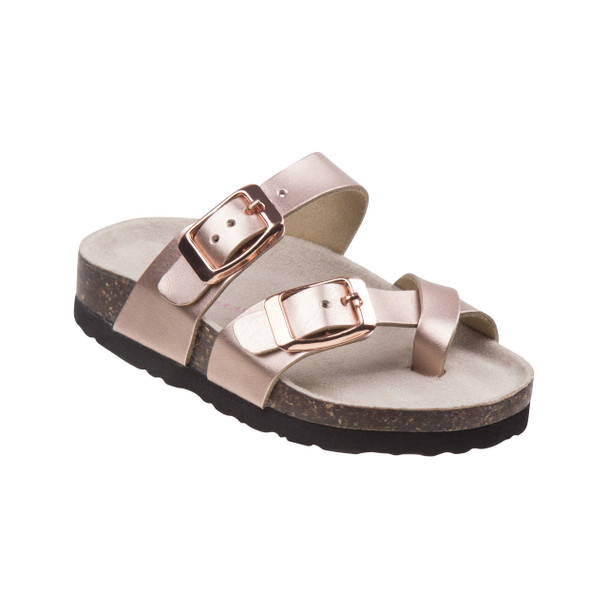 Laura Ashley Buckle Sandals for Toddler Girls~Champagne*O-LA49541N