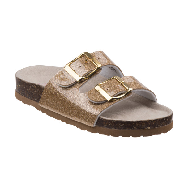 Laura Ashley Buckle Sandals for Toddler Girls~Gold*O-LA81139S