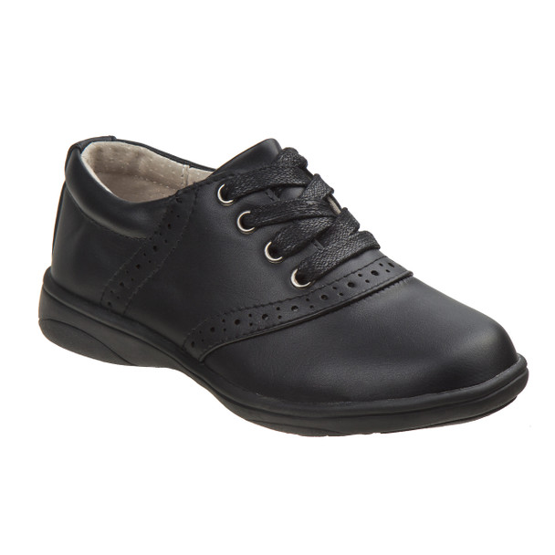 Laura Ashley Oxford School Shoes for Girls~Black*O-LA83688G