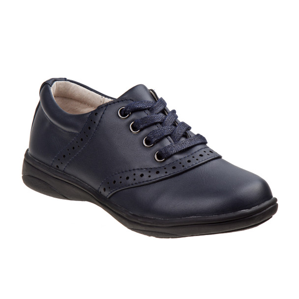 Laura Ashley Oxford School Shoes for Girls~Navy*O-LA83688G