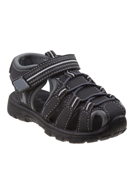 Youth Rugged Bear Boys' Active Sandals~Black Grey*O-RB81480M