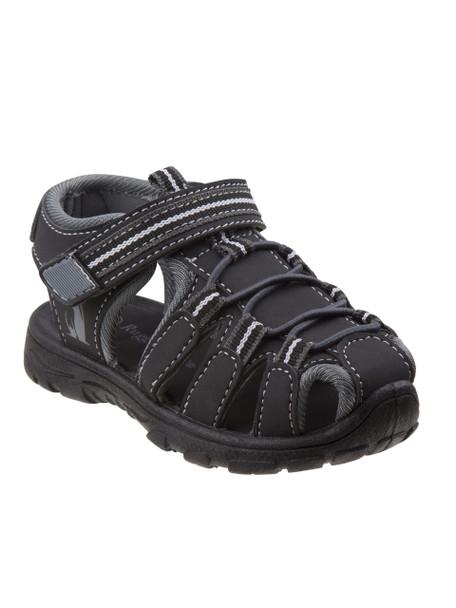 Toddler Rugged Bear Boys' Active Sandals~Black Grey*O-RB81480N