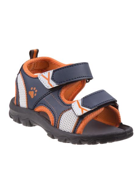 Youth Rugged Bear Boys' Active Sandals~Navy Orange*O-RB81484M