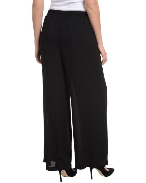 Elastic Waistband Tassel Tie Pants~Black*MCCP0130