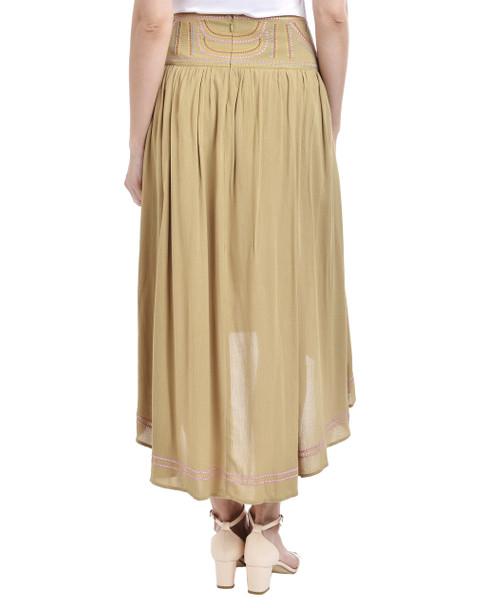 Embroidered Waist High-Low Skirt~Cornstalk*MCOK0174
