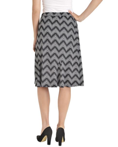 Elastic Waistband Godet Skirt~Noir Zing*MITK0835
