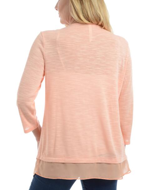 3/4 Sleeve Handkerchief Hem Cardigan~Peach Nectar*MHAR0178