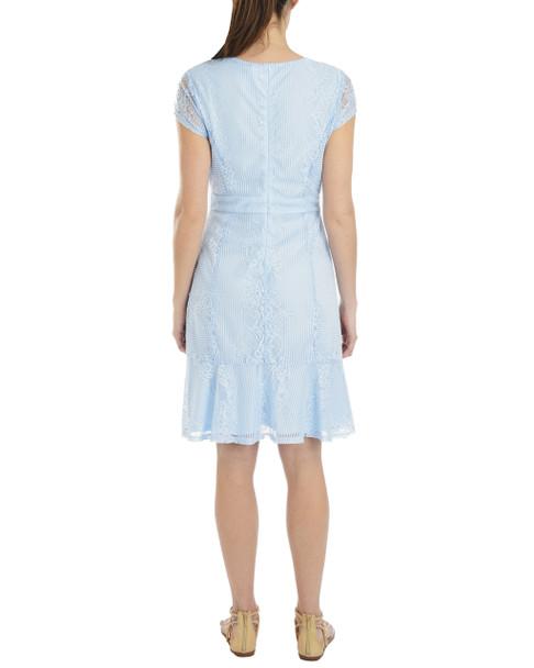 Flounce Hem Sheath Lace Dress~Sky Linelace*MLAD0258