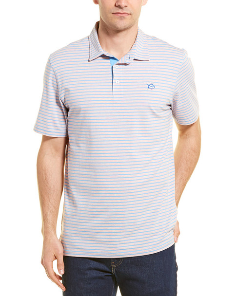 Southern Tide Striped Channel Marker Polo~1010099131