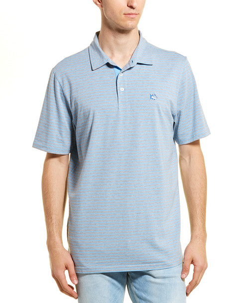 Southern Tide Channel Marker Striped Polo~1010099132