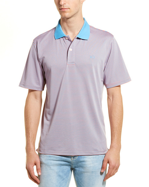 Southern Tide T3 Tide To Trail Fort Frederik Striped Performance Polo~1010099149