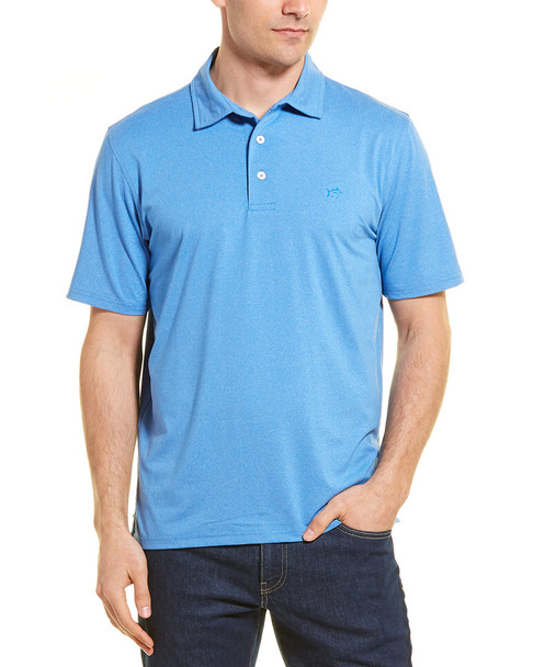 Southern Tide Heathered Driver Performance Polo~1010099152