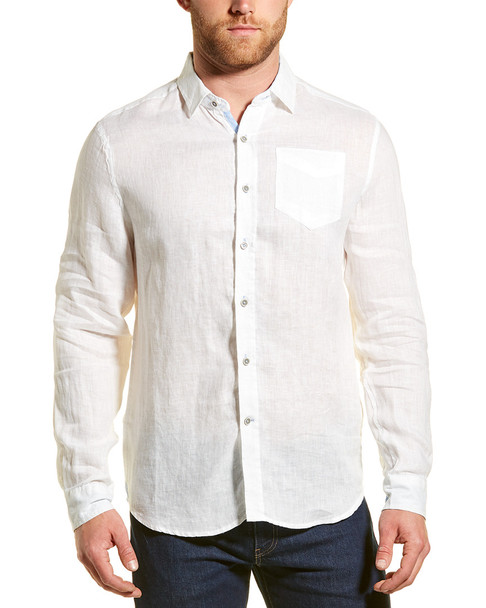 Report Collection Enzyme Wash Linen Woven Shirt~1010182924