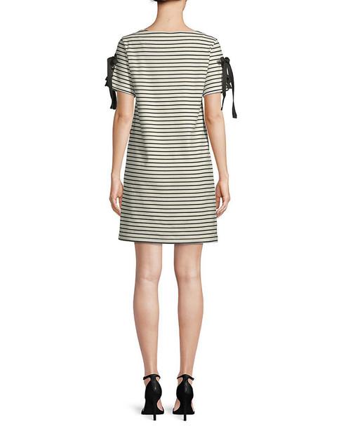 Workshop Striped Short-Sleeve Dress~1050864252