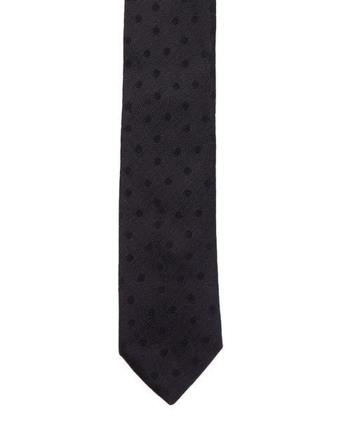 Eton Grey & Navy Dots Silk Tie~12231982060000