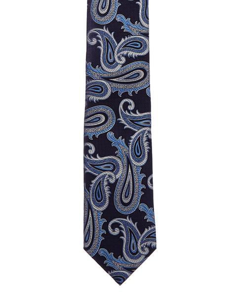 Eton Blue Paisley Silk Tie~12231982100000