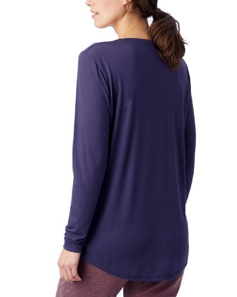 Alternative Apparel Long Sleeve Slinky V-Neck~1411199139