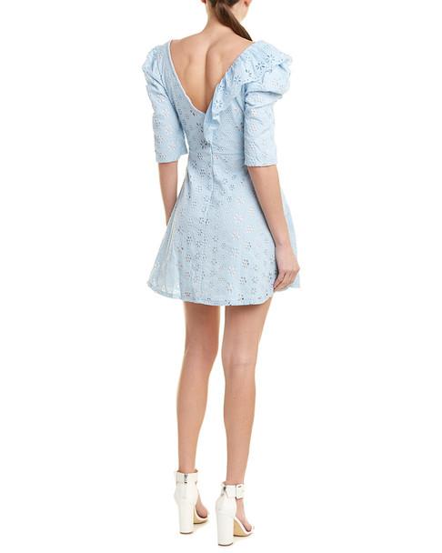 Just Me Eyelet A-Line Dress~1411230145
