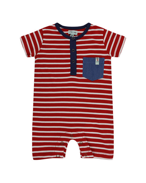 Lilly and Sid Red Stripe Romper~1511080438