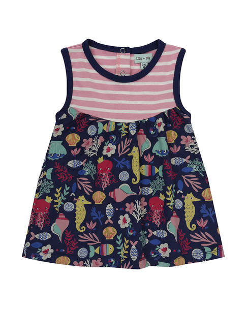 Lilly and Sid Fabric Mix Dress~1511080478