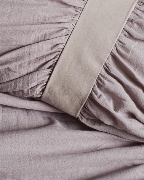 BOHO BED Voile Ruched Duvet Set Pebble~3030820741