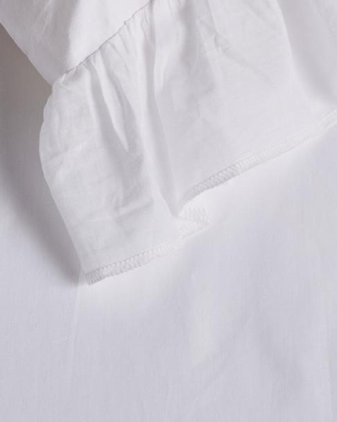 BOHO BED Voile Ruffle Duvet Set White~3030820747