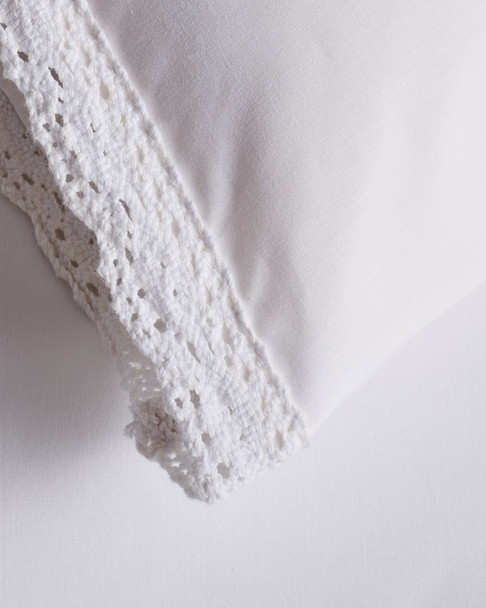 BOHO BED Wide Crochet Duvet Set White~3030820755