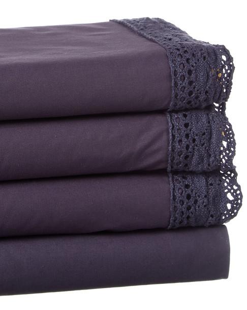 BOHO BED Wide Crochet Sheet Set indigo~3033820762