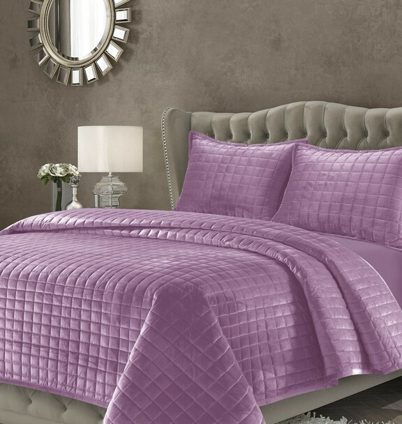 Florence Velvet Oversized Quilt Set~Light/Pastel Purple*FLORENCEQUI