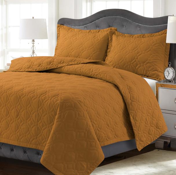 Lyon Oversized Quilt Set~Medium Beige*LYONQUILT