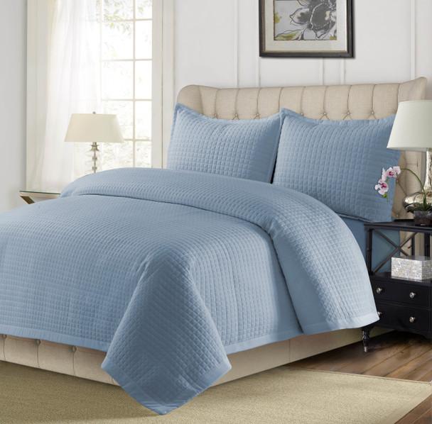 Como Oversized Quilt Set~Light/Pastel Blue*COMOQUILT