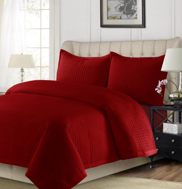 Como Oversized Quilt Set~Dark Red*COMOQUILT