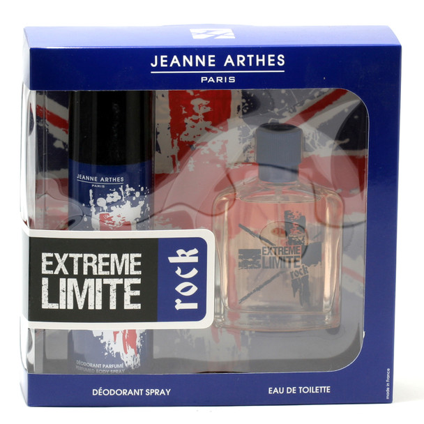Jeanne Arthes Extreme Limite Rock 2-Piece Set for Men - 3.4 oz. Spray/6.7 oz. Deodorant Body Spray