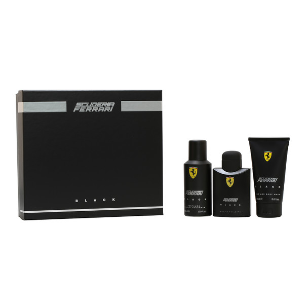 Ferrari Black 3-Piece Set - 4.2 Spray/5 oz. Body Wash/5 oz. Deodorant Spray