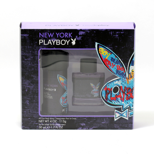 Playboy New York for Men 2-Piece Set - 1.7 oz. EDT Spray/4 oz. Body Spray