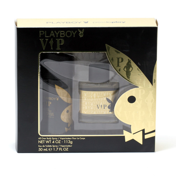 Playboy VIP for Men 2-Piece Set - 1.7 oz. EDT Spray/4 oz. Body Spray