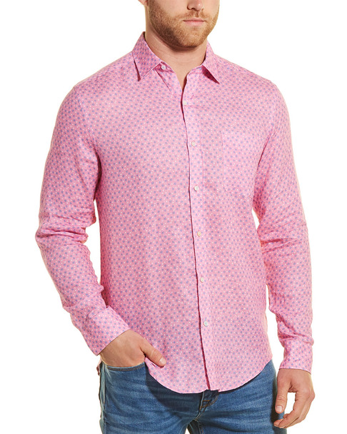 J.McLaughlin Gramercy Pom Pom Woven Linen Shirt~1010246976