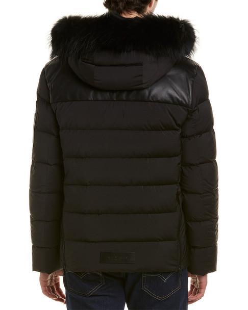 Maurice Benisti Alta Leather-Blend Down Coat~1010734086