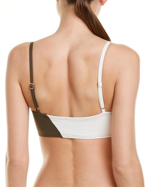Vince Camuto Colorblocked Square Neck Bikini Top~1411248773