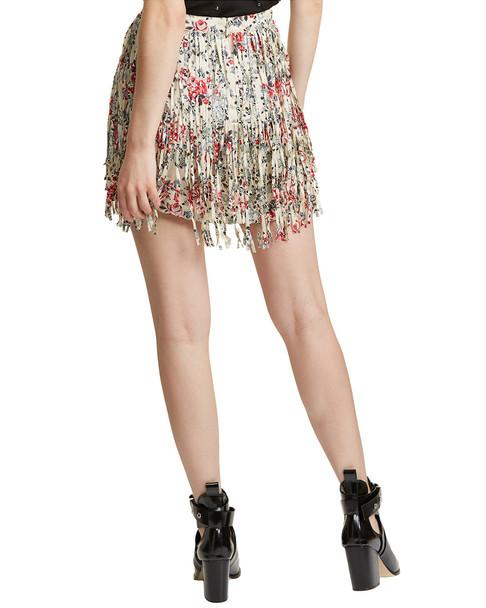 Zadig & Voltaire Jaliz Print Deluxe Silk Mini Skirt~1411255466