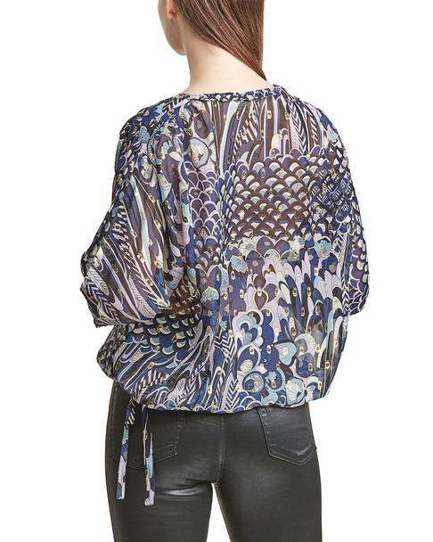 Zadig & Voltaire Terry Clip Silk-Blend Top~1411255516