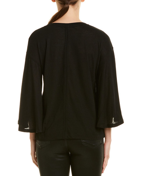 David Lerner Flutter Sleeve Top~1411442024