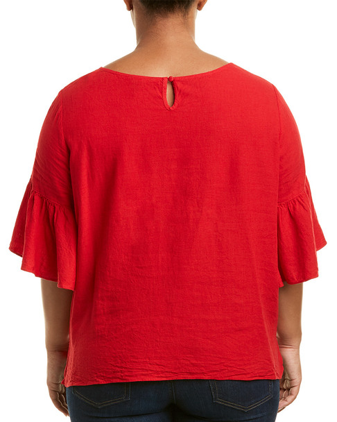 NIC+ZOE Plus Linen-Blend Top~1411847058