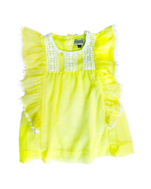 Sophie Catalou Lemon Heritage Lace Kate Dress~1511357525